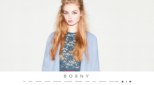 BORNY Official Web Site Renewal Open !!